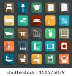 furniture flat icons  vector... | Shutterstock .eps vector #152575079
