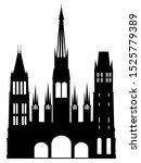 black silhouette of symbol of... | Shutterstock .eps vector #1525779389