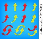 vector popular arrow sticker... | Shutterstock .eps vector #152579399