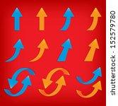 vector popular arrow sticker... | Shutterstock .eps vector #152579780