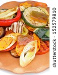 various grilled vegetables with ...