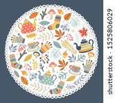 template cards or invitations.... | Shutterstock .eps vector #1525806029