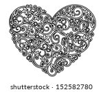 floral heart with ornamental... | Shutterstock .eps vector #152582780