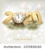 holiday background with a 2020... | Shutterstock .eps vector #1525828160