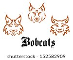 bobcats and lynxs for mascot or ... | Shutterstock .eps vector #152582909