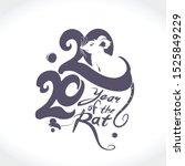 year of the rat 2020 logo...   Shutterstock .eps vector #1525849229