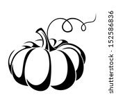 pumpkin. vector black... | Shutterstock .eps vector #152586836