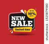 new sale banner template design.... | Shutterstock .eps vector #1525879580