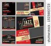 international jazz social media ...   Shutterstock .eps vector #1525883723
