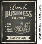 business lunch poster on... | Shutterstock .eps vector #152589848