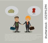 businessmen shaking hands ...   Shutterstock .eps vector #152591294