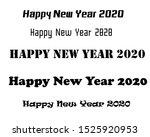 happy new year font 2020 | Shutterstock . vector #1525920953