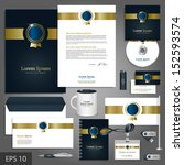 luxurious corporate identity... | Shutterstock .eps vector #152593574