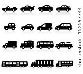 cars icons two | Shutterstock .eps vector #152597744