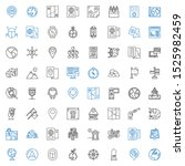 map icons set. collection of... | Shutterstock .eps vector #1525982459