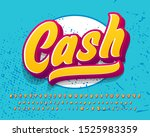modern retro text effect with... | Shutterstock .eps vector #1525983359