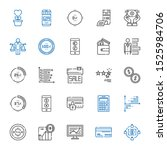 financial icons set. collection ... | Shutterstock .eps vector #1525984706