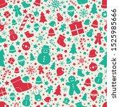 beautiful christmas texture... | Shutterstock .eps vector #1525985666