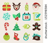 set of colorful flat icons... | Shutterstock .eps vector #152598584