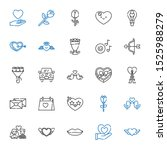 romantic icons set. collection... | Shutterstock .eps vector #1525988279