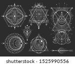 vector set of sacred geometric...   Shutterstock .eps vector #1525990556