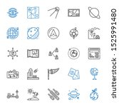 earth icons set. collection of...   Shutterstock .eps vector #1525991480