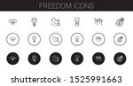 freedom icons set. collection... | Shutterstock .eps vector #1525991663