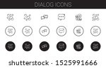 dialog icons set. collection of ... | Shutterstock .eps vector #1525991666