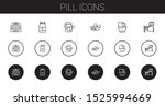 pill icons set. collection of... | Shutterstock .eps vector #1525994669
