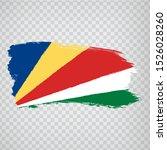 flag seychelles from brush...