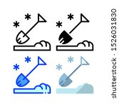 snow shovel icon. with outline  ...