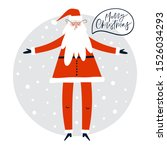 christmas holiday card with... | Shutterstock .eps vector #1526034293