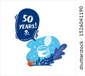 50 years. how long decompos tin ... | Shutterstock .eps vector #1526041190