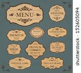 vintage label style frame... | Shutterstock .eps vector #152605094