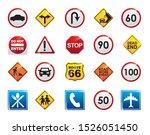 road sign icon set design ... | Shutterstock .eps vector #1526051450