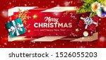 christmas vector background.... | Shutterstock .eps vector #1526055203