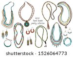 collection of handmade jewelry  ...   Shutterstock .eps vector #1526064773