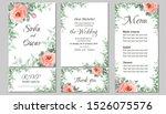 flower wedding invitation... | Shutterstock .eps vector #1526075576