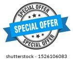 special offer black band label. ... | Shutterstock .eps vector #1526106083