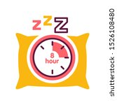 sleep time color line icon....