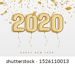 new year 2020 celebrate  gold... | Shutterstock .eps vector #1526110013