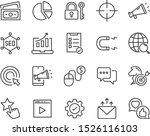 set of seo icons  website ... | Shutterstock .eps vector #1526116103