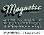 a bold layered cursive script...   Shutterstock .eps vector #1526119199