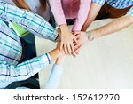 group of corporate people... | Shutterstock . vector #152612270