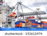 Large Harbor Cranes At The Por...