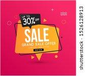 grand sale banner template... | Shutterstock .eps vector #1526128913