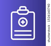 medical report icon isolated on ... | Shutterstock . vector #1526160740