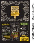 mexican menu template for... | Shutterstock .eps vector #1526163893