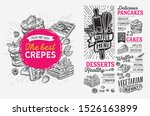 waffle and pancake menu... | Shutterstock .eps vector #1526163899