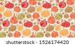 cute colorful assorted pumpkins ... | Shutterstock .eps vector #1526174420